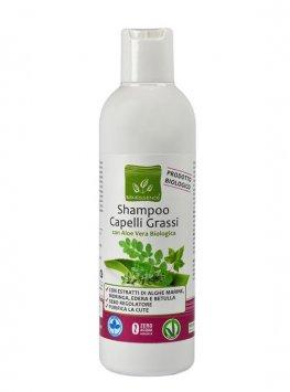 Shampoo Capelli Grassi con Aloe Vera Biologica Benessence 79ebf10f7955