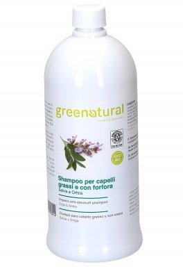 Shampoo per Capelli Grassi e con Forfora Eco-Bio - Salvia e Ortica