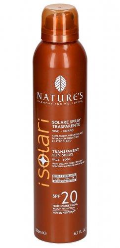 Solari - Solare Spray Trasparente Viso-Corpo, previene le rughe, rughe