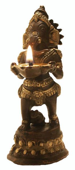 Statua Ganesh - Lampada ad Olio