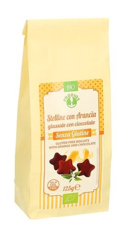 Stelline con Arancia - Glassate con Cioccolato