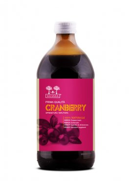 Succo di Cranberry 500ml – Puro al 100%