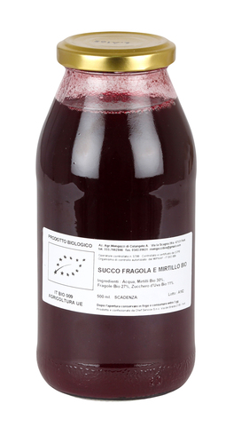 Succo di Fragola e Mirtillo Bio