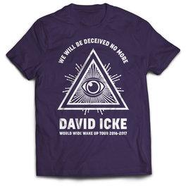 T-Shirt David Icke Tour 2016/2017 - Colore Blu - Taglia S