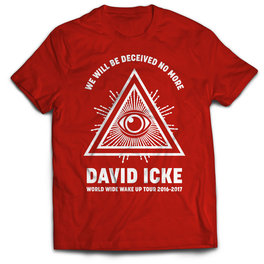 T-Shirt David Icke Tour 2016/2017 - Colore Rosso