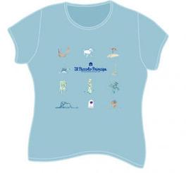 T-shirt La Storia - Azzurra - Tg.s Fem. - Manica Corta - Il Piccolo Principe