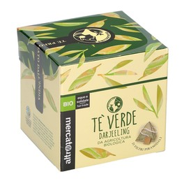 Tè VERDE DARJEELING - 20 FILTRI Sapore fresco e leggermente erbaceo