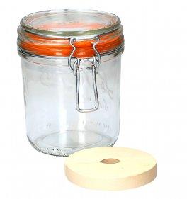 """Vaso in Vetro con Coperchio """"Swing Top"""" per la Fermentazione"""