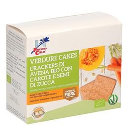 Verdure Cakes - Crackers di Avena Bio con Carote e Semi di Zucca