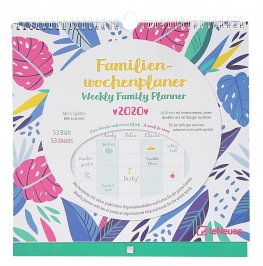 Weekly Family Planner Flowers - Calendario Familiare Floreale 2020