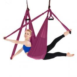 Macrolibrarsi - Yoga Swing Viola - Kit AntiGravity Fitness