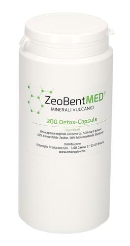 Zeobent Med - 200 Detox Capsule - Zeolite e Bentonite