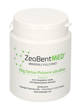 Zeobent Med - Detox Polvere Ultrafina di Zeolite e Bentonite