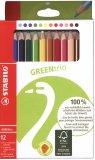 12 Pastelli Colorati - Green Trio