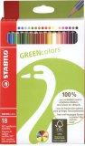 18 Pastelli Colorati - Green Colors