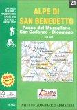 Alpe di San Benedetto - Carta dei Sentieri n.21 — Libro