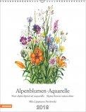 Alpeblumen Aquarelle - Calendario 2019