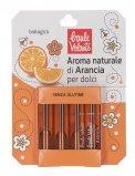 Aroma Naturale di Arancia per Dolci - 4 Ampolle