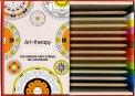 Art Therapy Mandala - Libro + 12 Matite - Cofanetto