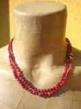 Collana in Rubino naturale pietre micro facet - Cod 8