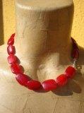 Collana in Rubino naturale pietre rettangolari e liscie e stondate - Cod 13