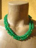 Collana in Smeraldo doppio filo 8 mm - Cod 11
