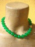 Collana in Smeraldo naturale sfere lisce - Cod 18