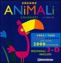 Creare Animali Colorati - Libro + Occhiali 3D — Libro