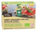 Crispy Crackers con Ceci, Lenticchie e Piselli