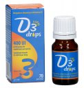 D3 Drops 400 UI - Integratore a base di vitamina D3 in gocce