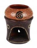 Diffusore con Puntini e Spirale in Terracotta - Marrone Scuro