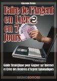 eBook - Faire de l'argent en ligne en 7 jours