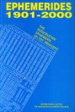 Effemeridi 1901 - 2000 The Rosicrucian Ephemeris Oh Tdt  - Libro