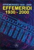 Effemeridi 1930-2000 - Libro