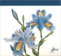 Flower Desk - Blocco di Carta - Iris Blu - Libro
