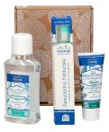 Gift Box Oral Care Menta: Dentifricio Gel +  Collutorio + Spazzolino