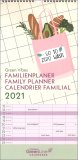 Green Vibes - Family Planner - 2021 — Calendario