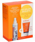 Kit Solare Bioearth - Protezione Alta - Crema Solare Spray 50 SPF + Shampoo Doccia Solare in Regalo - Cofanetto