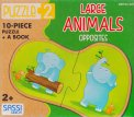 Large Animals - Opposites - Libro + Puzzle