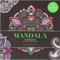 Mandala - Colouring Book - Black Premium - Libro
