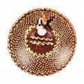 Piattino Bruciatore in Terracotta Colorato e Decorato a Mano
