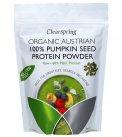 Cleanspring- Proteine di Semi di Zucca Bio, Raw, Low Fat, Vegan