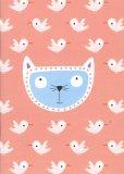 Quaderno Rosa Gatto e Uccelli