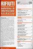 Rifiuti - Bollettino di Informazione Normativa n.184 - Maggio 2011
