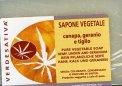Sapone Vegetale Canapa, Geranio e Tiglio - 100 g