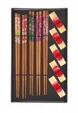 Scatola con 5 Bacchette e Reggi Bacchette in Bambù - Fantasia Mista