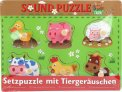 Sound Puzzle Farm - Puzzle ad Inserto con Suono di Animali