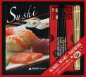 Sushi, Maki e Sashimi con Bacchette e Stuoietta in Bambu