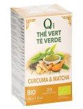 Qi - Tè Verde - Curcuma e Matcha - 20 Filtri