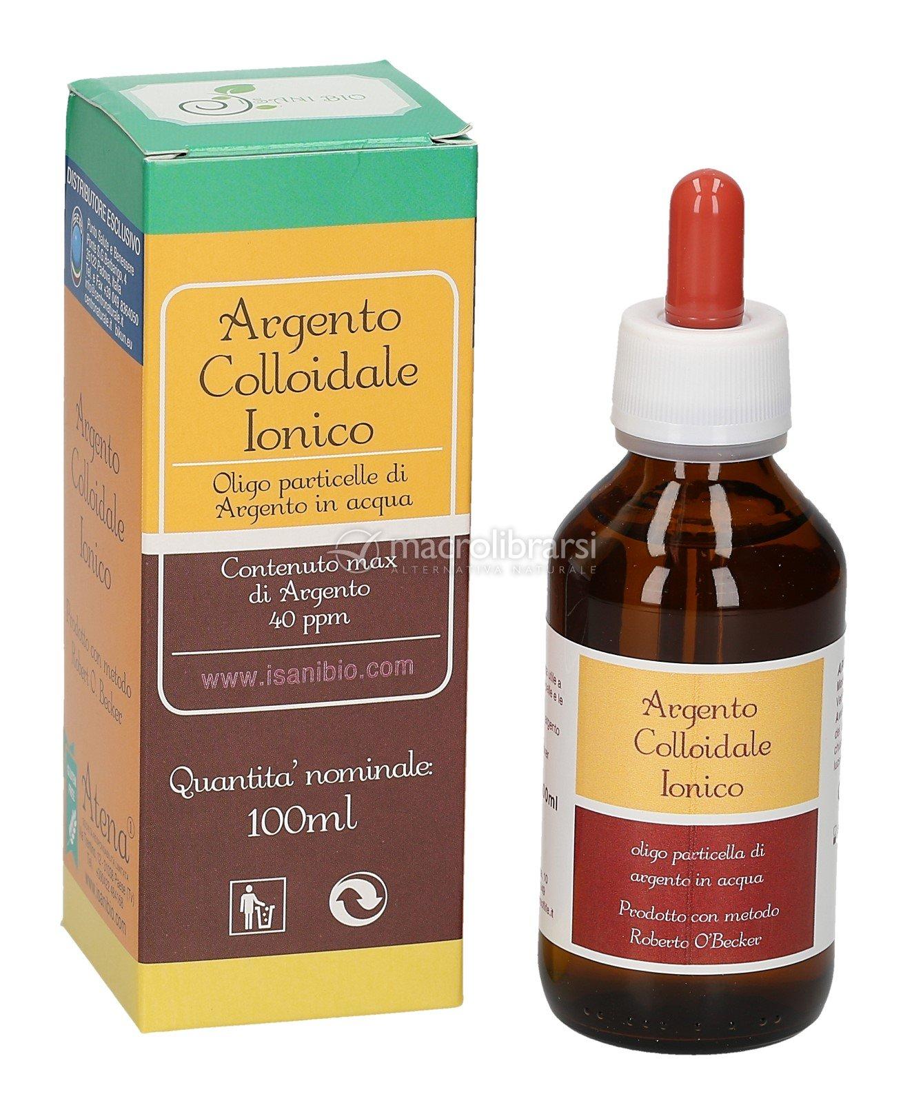 argento colloidale  Argento Colloidale Ionico - 40 ppm - 100 ml - ATENA S.R.l.